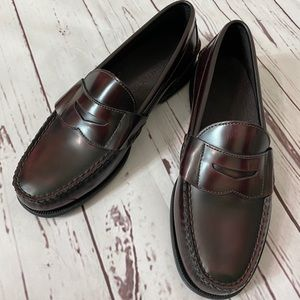 Sperry Leather Brown Burgundy Penny loafer 8.5